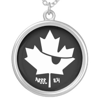 Canadian Pirate Maple Leaf Necklace