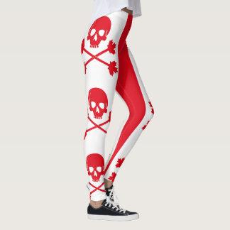 Canadian Pirate Skull and Crossbones Leggings