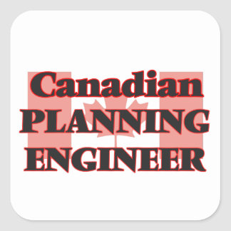 Canadian Planning Engineer Square Sticker