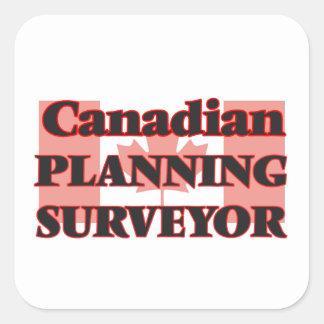 Canadian Planning Surveyor Square Sticker