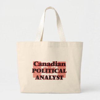 Canadian Political Analyst Jumbo Tote Bag