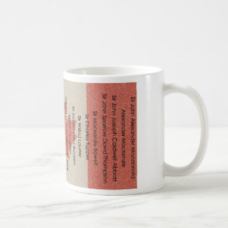 Canadian Political History Prime Minister Name Mug