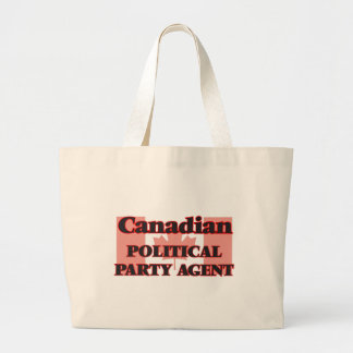 Canadian Political Party Agent Jumbo Tote Bag