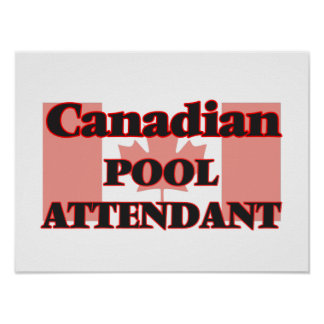 Canadian Pool Attendant Poster