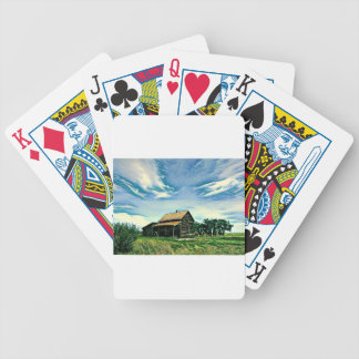 Canadian prairies homestead colour bicycle playing cards