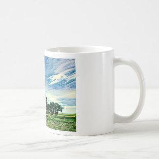 Canadian prairies homestead colour coffee mug