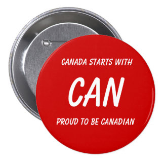 Canadian pride button