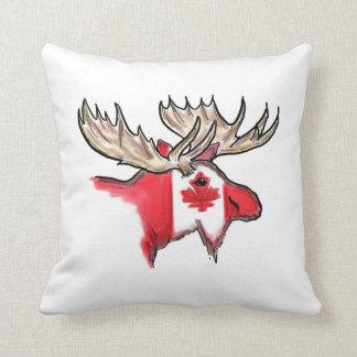 Canadian pride Canada elk flag design pillow Cushion