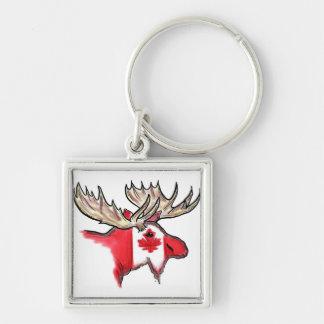 Canadian pride Canada elk flag keychain