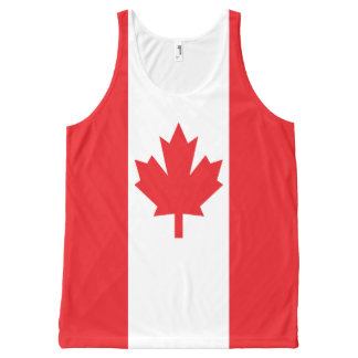 Canadian Pride Colorful All-Over Print Tank Top