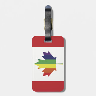 Canadian Pride Flag Luggage Tag