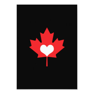 Canadian Pride - I Love Canada Maple Leaf Card