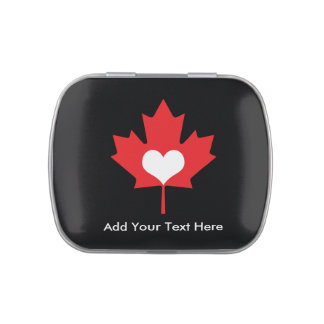 Canadian Pride - I Love Canada Maple Leaf Jelly Belly Tin