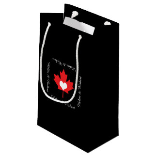 Canadian Pride - I Love Canada Maple Leaf Small Gift Bag