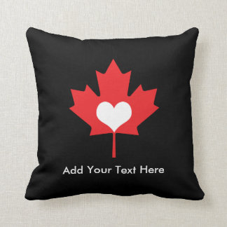 Canadian Pride - I Love Canada Maple Leaf Throw Pillow