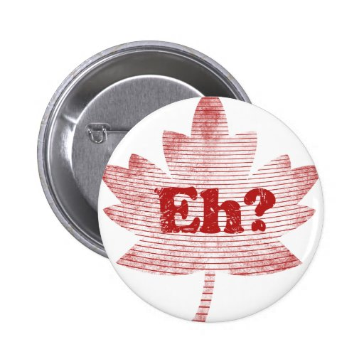 Canadian Pride Maple Leaf Pinback Button