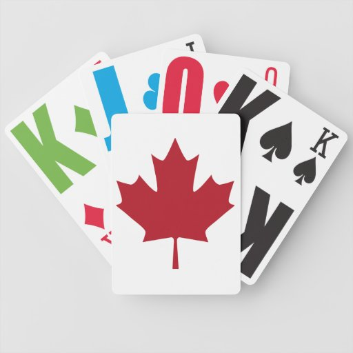 CANADIAN PRIDE MAPLE PLAYING CARDS