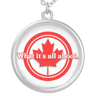Canadian Pride Round Pendant Necklace
