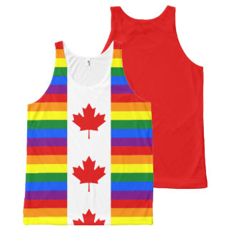 Canadian Pride Rainbow Canada Flag All-Over Print Tank Top