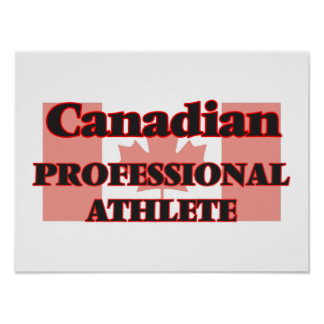 Canadian Professional Athlete Poster