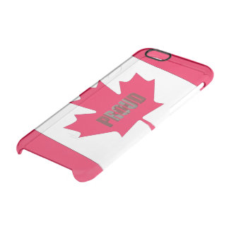 Canadian proud clear iPhone 6/6S case