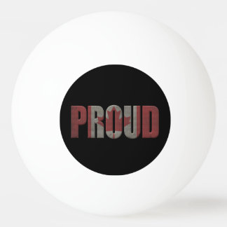 Canadian proud ping pong ball