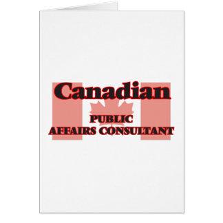 Canadian Public Affairs Consultant Greeting Card