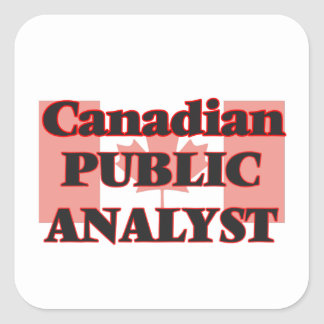Canadian Public Analyst Square Sticker