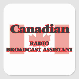 Canadian Radio Broadcast Assistant Square Sticker