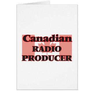 Canadian Radio Producer Greeting Card