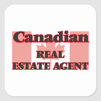 Canadian Real Estate Agent Square Sticker