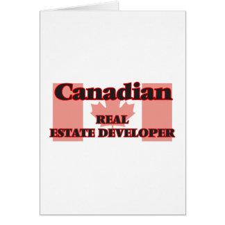 Canadian Real Estate Developer Greeting Card