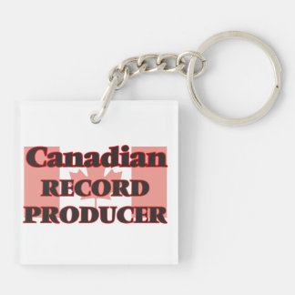 Canadian Record Producer Double-Sided Square Acrylic Key Ring