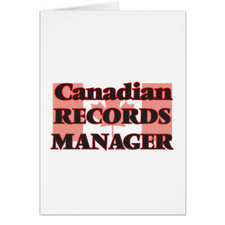 Canadian Records Manager Greeting Card