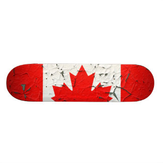 Canadian Red Maple Leaf CANADA Peeling Paint style Skate Deck