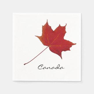 canadian red maple leaf disposable serviette