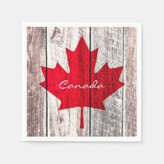 Canadian red maple leaf flag disposable napkins