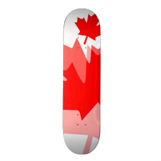 Canadian red Maple Leaf Layered Style CANADA Skateboard Decks
