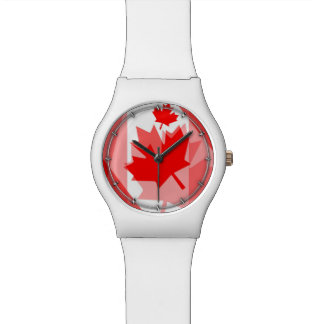 Canadian red Maple Leaf Layered Style CANADA Wrist Watches