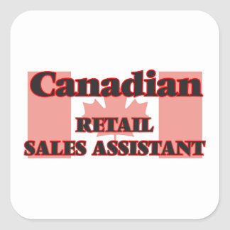 Canadian Retail Sales Assistant Square Sticker