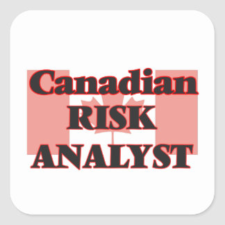 Canadian Risk Analyst Square Sticker