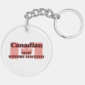 Canadian Sales Support Executive Double-Sided Round Acrylic Key Ring