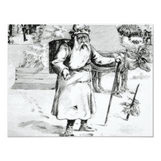 canadian santa 1875 11 cm x 14 cm invitation card