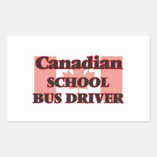 Canadian School Bus Driver Rectangular Sticker