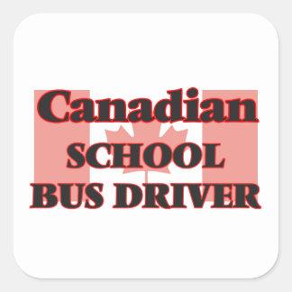 Canadian School Bus Driver Square Sticker