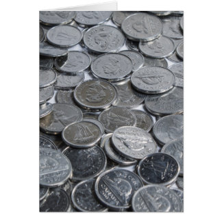 Canadian Silver Coins Greeting Card