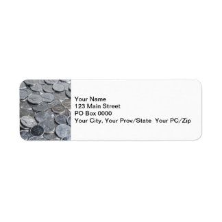 Canadian Silver Coins Return Address Label