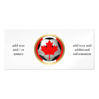 Canadian Soccer Ball Magnetic Invitations