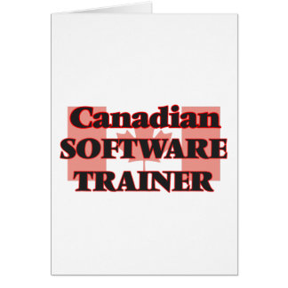 Canadian Software Project Manager Greeting Card