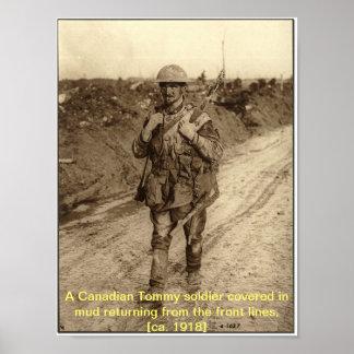 Canadian Soldier WW1 Print